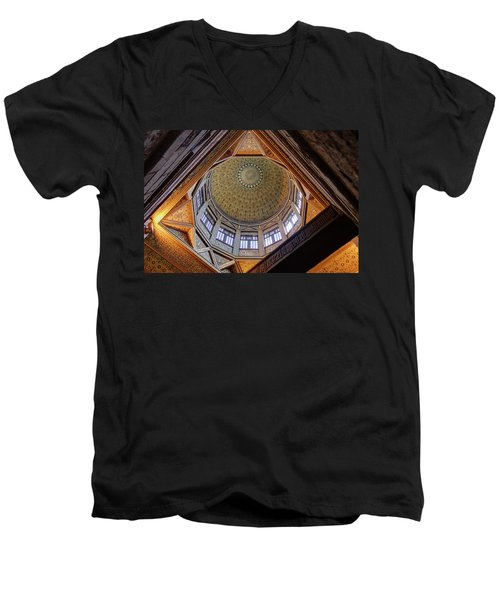 Cairo Nilometer Men's V-Neck T-Shirt by Nigel Fletcher-Jones