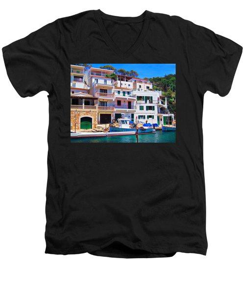 Cala Figuera Men's V-Neck T-Shirt