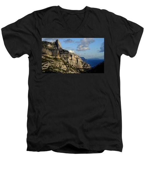 Calanque De Sugiton Men's V-Neck T-Shirt