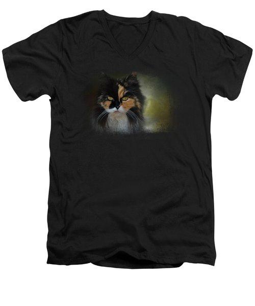 Calico Stare Men's V-Neck T-Shirt by Jai Johnson