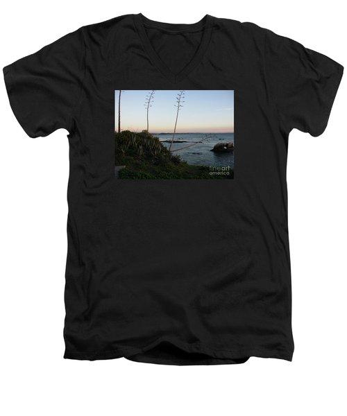 California At Twilight Men's V-Neck T-Shirt by Mini Arora