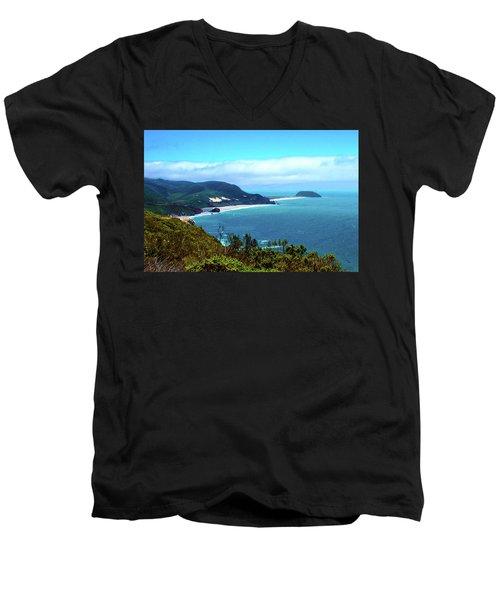 California Central Coast Cove Men's V-Neck T-Shirt