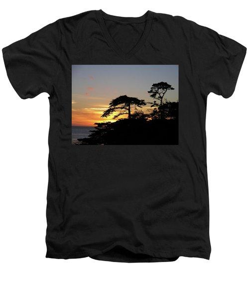 California Coastal Sunset Men's V-Neck T-Shirt