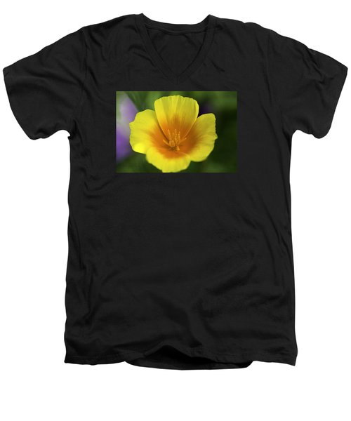 California Poppy 2 Men's V-Neck T-Shirt