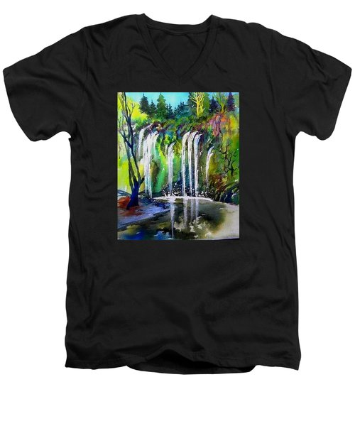 California Water Fall Men's V-Neck T-Shirt