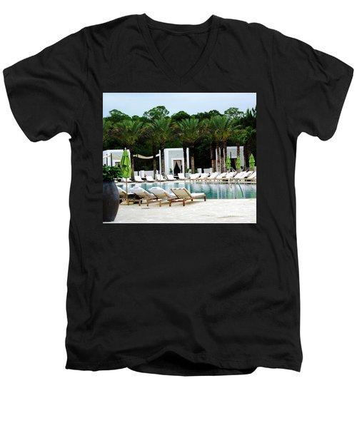 Caliza Pool In Alys Beach Men's V-Neck T-Shirt