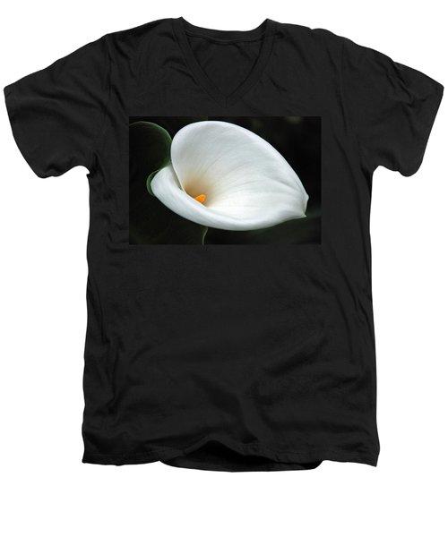 Calla Lilly  Men's V-Neck T-Shirt