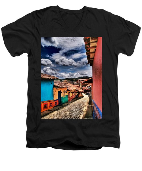 Calle De Colores Men's V-Neck T-Shirt