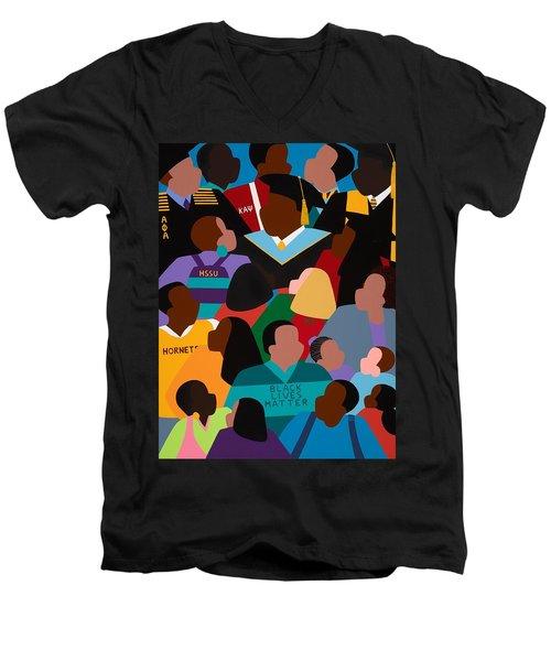 Called To Serve Inspiring Change Men's V-Neck T-Shirt