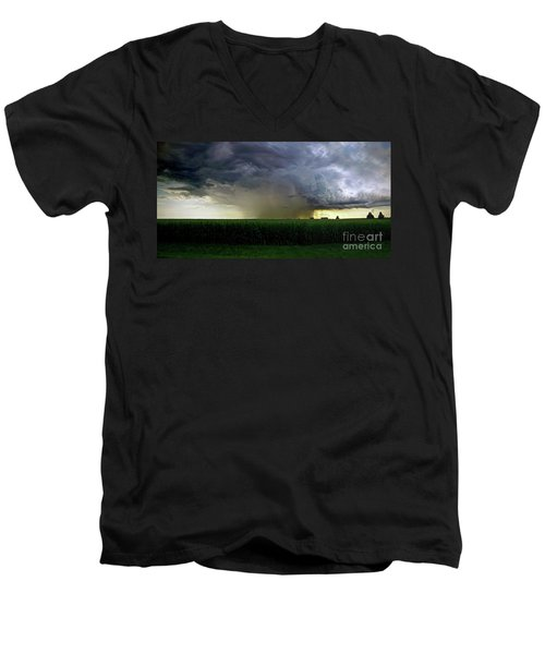 Calm Before The Storm Men's V-Neck T-Shirt by Sue Stefanowicz