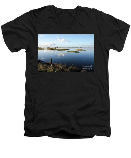 Calm Wetland Men's V-Neck T-Shirt by Kennerth and Birgitta Kullman