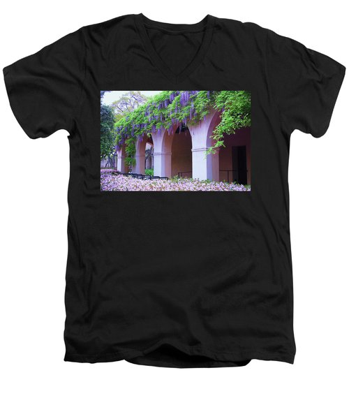 Caltech Wisteria Men's V-Neck T-Shirt by Ram Vasudev