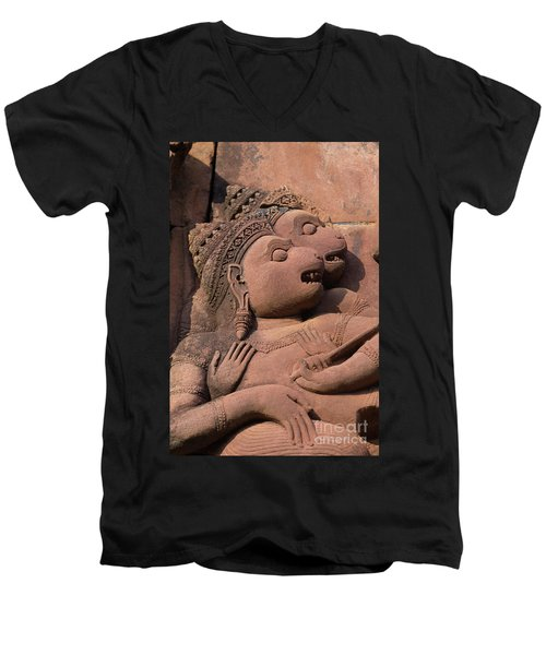 Cambodia_d411 Men's V-Neck T-Shirt