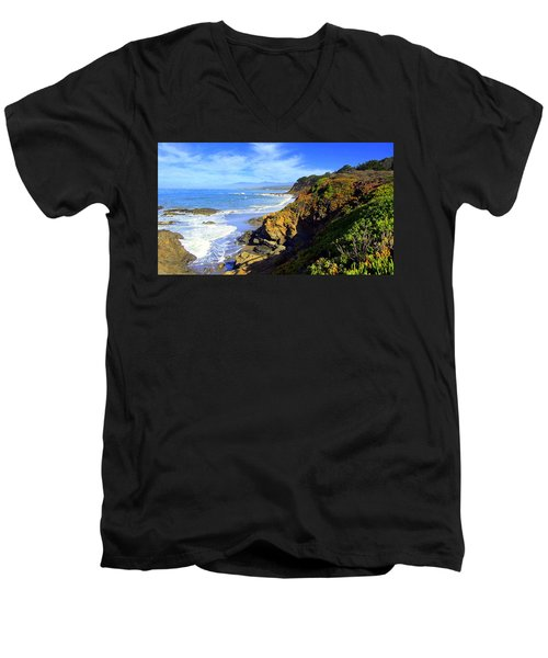 Cambria By The Sea Men's V-Neck T-Shirt