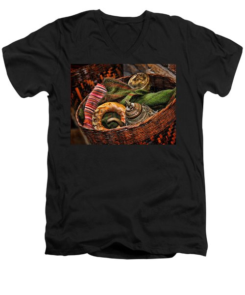 Camelback 8848 Men's V-Neck T-Shirt by Sylvia Thornton