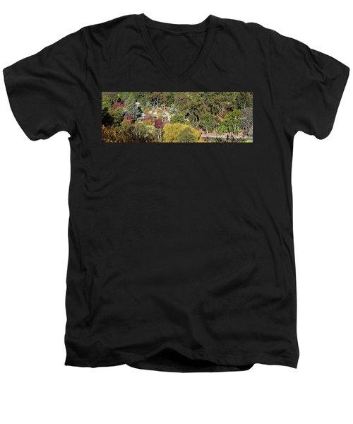 Camelot Castle, Basket Range Men's V-Neck T-Shirt by Bill Robinson