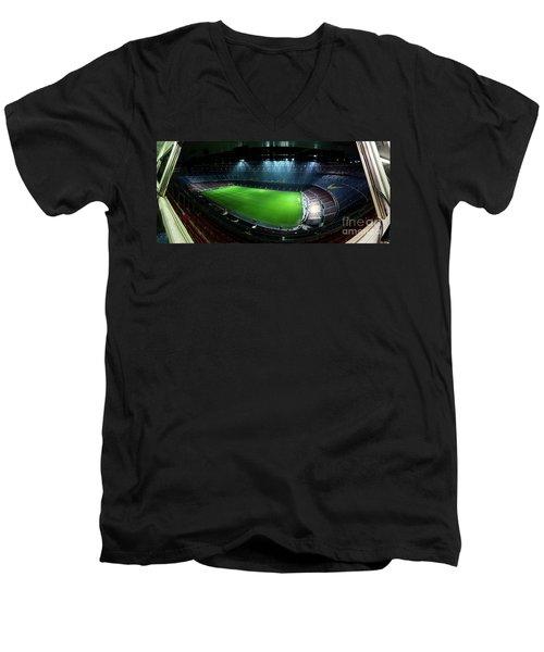 Camp Nou At Night Men's V-Neck T-Shirt