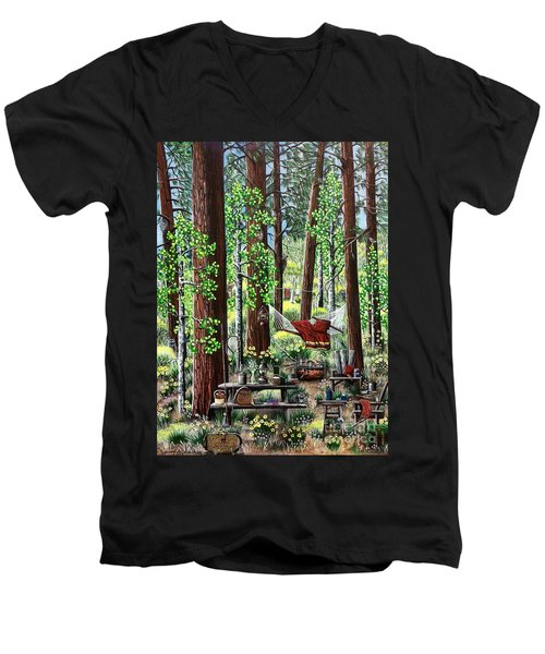 Camping Paradise Men's V-Neck T-Shirt