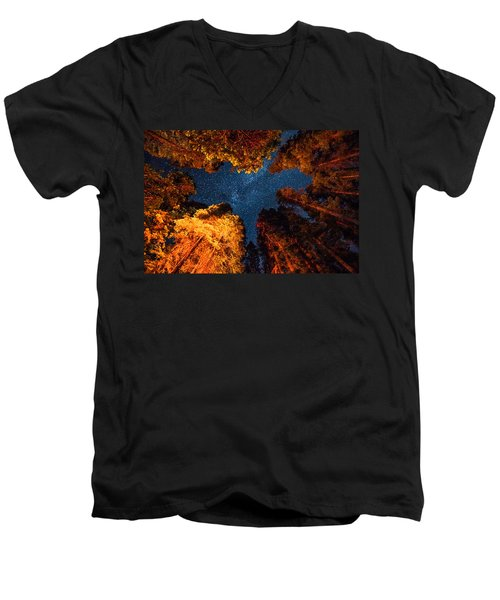 Camping Under The Stars  Men's V-Neck T-Shirt