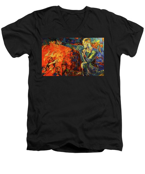 Campino Men's V-Neck T-Shirt by Koro Arandia