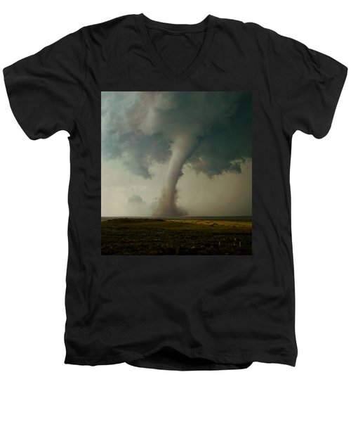 Campo Tornado Men's V-Neck T-Shirt by Ed Sweeney