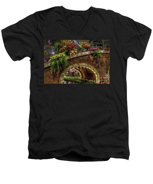 Canal And Bridge  Men's V-Neck T-Shirt