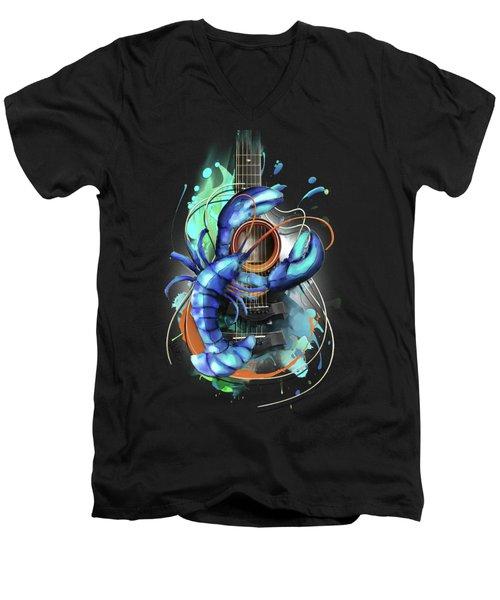 Cancer Men's V-Neck T-Shirt by Melanie D