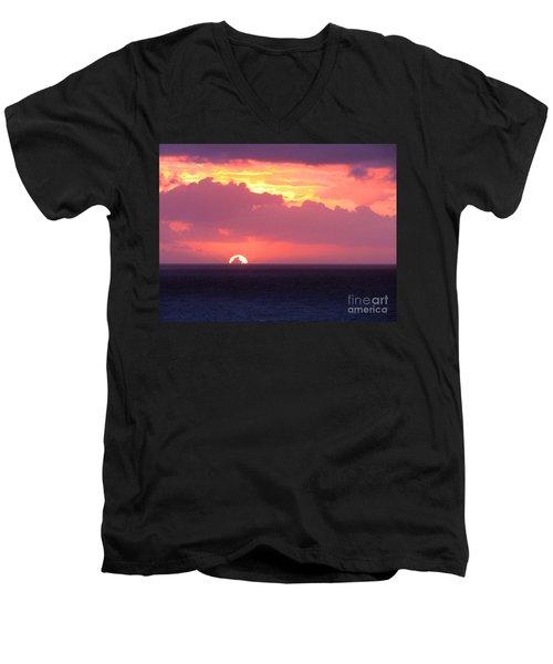 Sunrise Interrupted Men's V-Neck T-Shirt