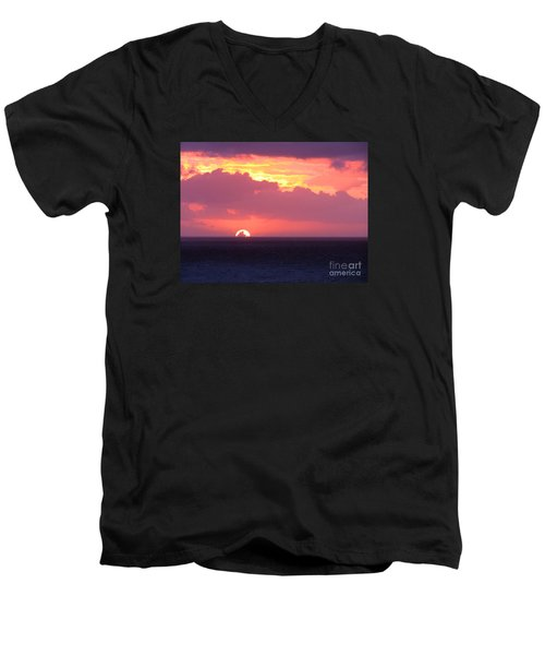 Sunrise Interrupted Men's V-Neck T-Shirt