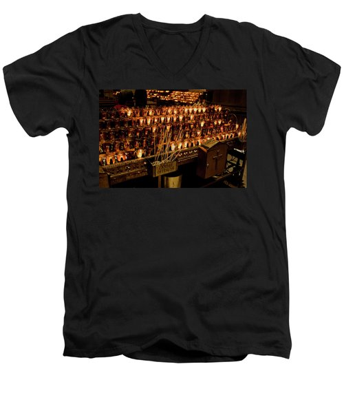 Candle Offerings St. Patrick Cathedral Men's V-Neck T-Shirt