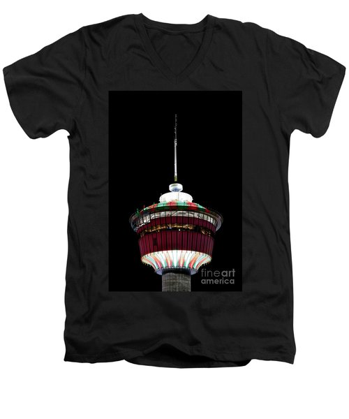 Men's V-Neck T-Shirt featuring the photograph Candy Cane Tower by Brad Allen Fine Art