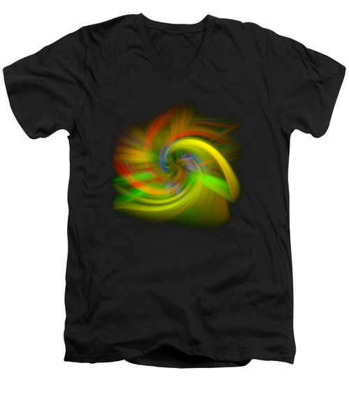 Men's V-Neck T-Shirt featuring the photograph Candy Mountain Twirl by Debra and Dave Vanderlaan