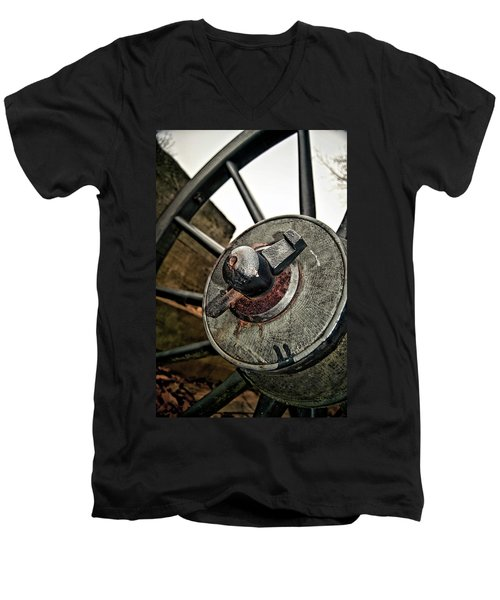 Cannon Wheel Men's V-Neck T-Shirt
