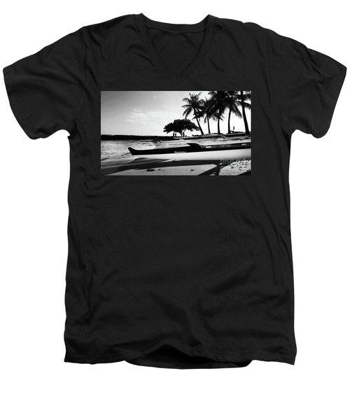 Canoes Men's V-Neck T-Shirt by Kristine Merc