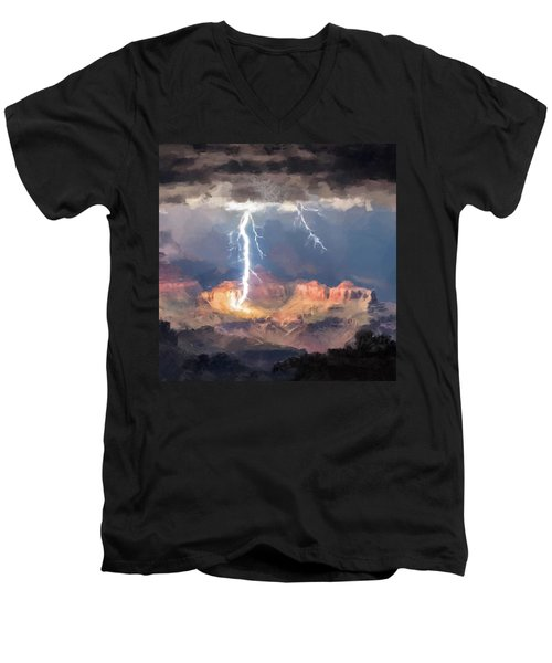Canyon Storm Men's V-Neck T-Shirt