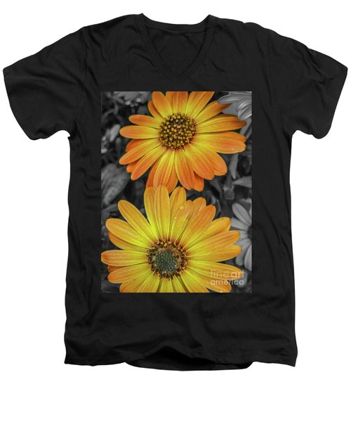 Cape Daisy's - Orange Men's V-Neck T-Shirt