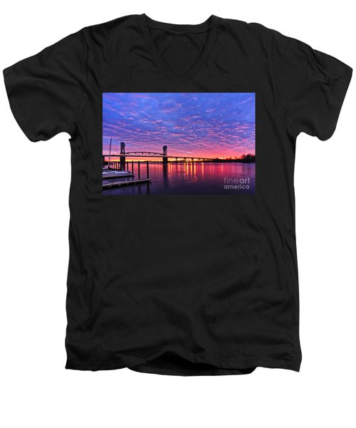 Cape Fear Bridge1 Men's V-Neck T-Shirt