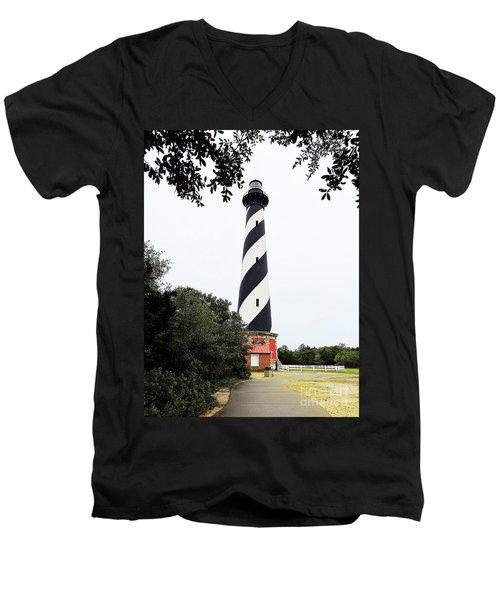 Cape Hatteras Lighthouse Men's V-Neck T-Shirt by Shelia Kempf