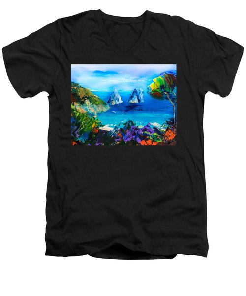 Capri Colors Men's V-Neck T-Shirt