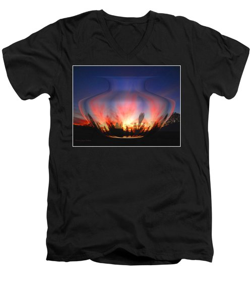 Men's V-Neck T-Shirt featuring the photograph Capricorn Morning by Joyce Dickens