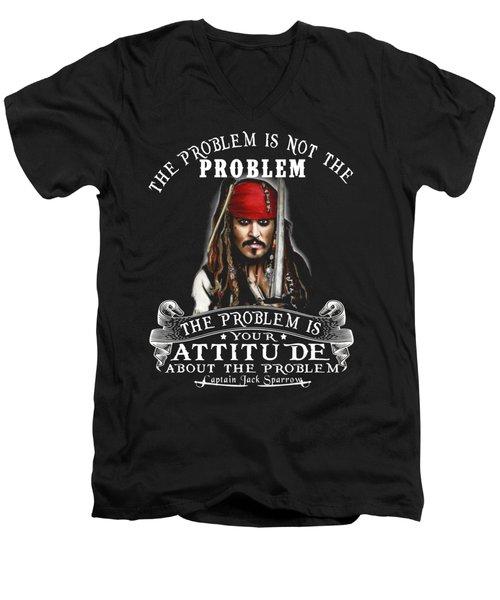 Captain Jack Sparrow Men's V-Neck T-Shirt by Smith