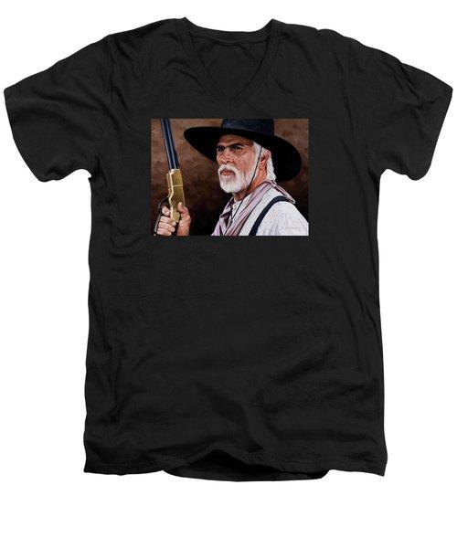 Captain Woodrow F Call Men's V-Neck T-Shirt by Rick McKinney