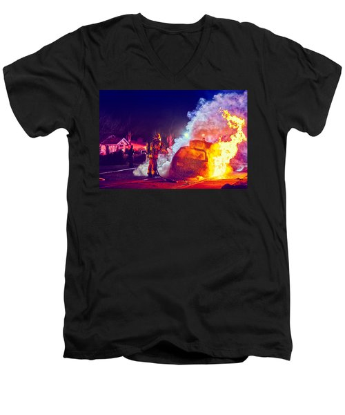 Car Arson  Men's V-Neck T-Shirt
