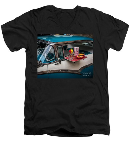 Car Hop Men's V-Neck T-Shirt by Perry Webster
