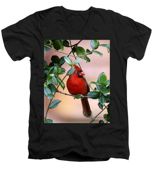 Cardinal In The Jasmine Men's V-Neck T-Shirt