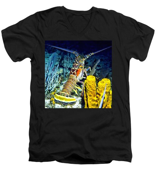 Caribbean Reef Lobster Men's V-Neck T-Shirt