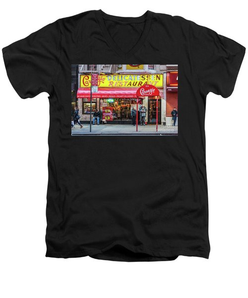Carnegie Deli Men's V-Neck T-Shirt