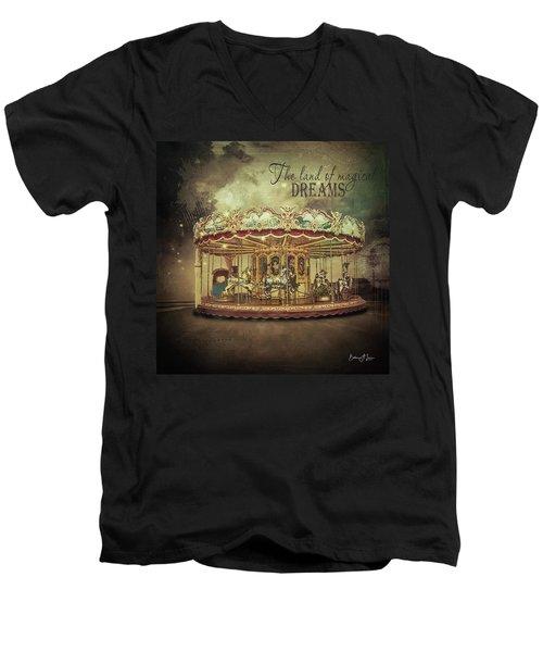 Carousel Dreams Men's V-Neck T-Shirt
