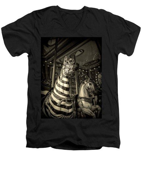 Carousel Zebra Men's V-Neck T-Shirt