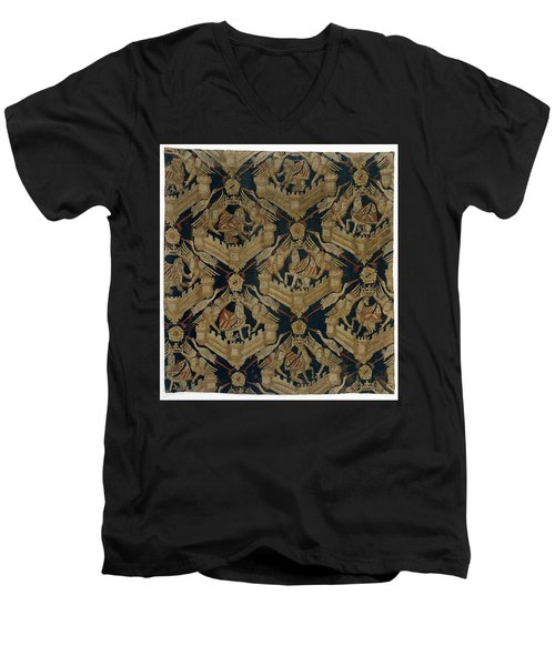 Textile Tapestry Carpet With The Arms Of Rogier De Beaufort Men's V-Neck T-Shirt by R Muirhead Art